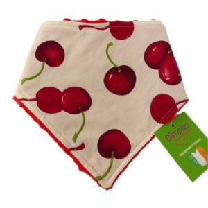 Dimples dog bandana Cherries on cream front