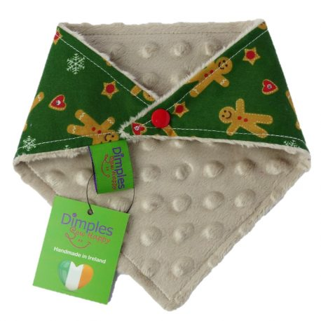 dimples dog bandana christmas gingerbread man back