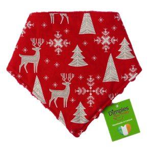 Nordic Reindeer - Christmas Dog Bandana | Dimples Sew Happy