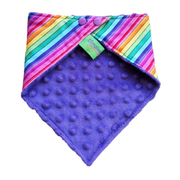 Pride Rainbow Dog Bandana Back | Dimples Sew Happy
