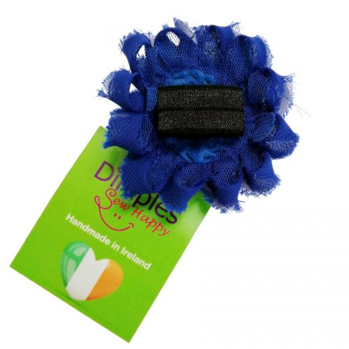 Royal Blue Flower Dog Collar   Dimples Sew Happy