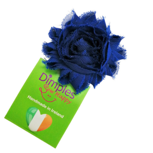 Royal Blue Flower Dog Collar | Dimples Sew Happy