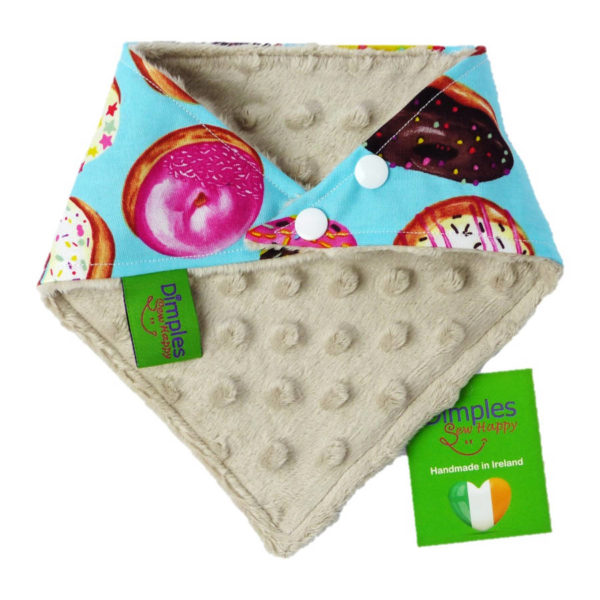 Donuts Dog Bandana Gift back | Dimples Sew Happy