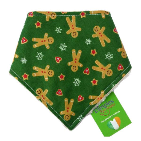 Gingerbread Man - Christmas Dog Bandana | Dimples Sew Happy