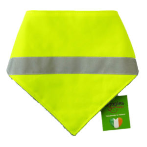 Hi-Vis Reflective Tape Dog Bandana front | Dimples Sew Happy