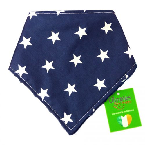 Navy Movie Stars Dog Bandana front | Dimples Sew Happy