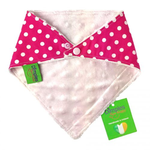 Pink Polka Dot Dog Bandana Back | Dimples Sew Happy