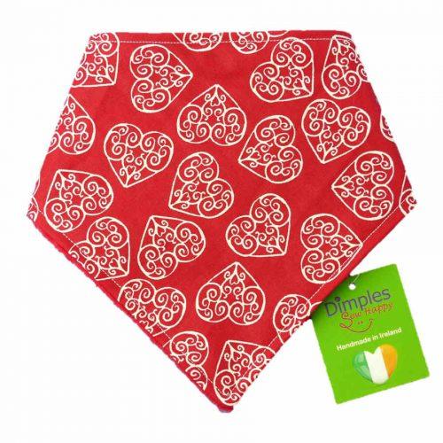 Romantic Hearts Dog Bandana | Dimples Sew Happy