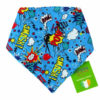 Superhero Comic Dog Bandana gift | Dimples Sew Happy
