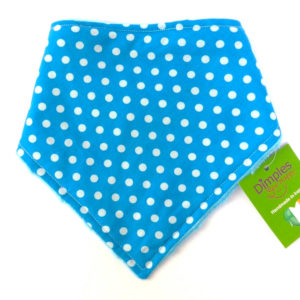 Turquoise Beanie Spot Dog Bandana gift | Dimples Sew Happy