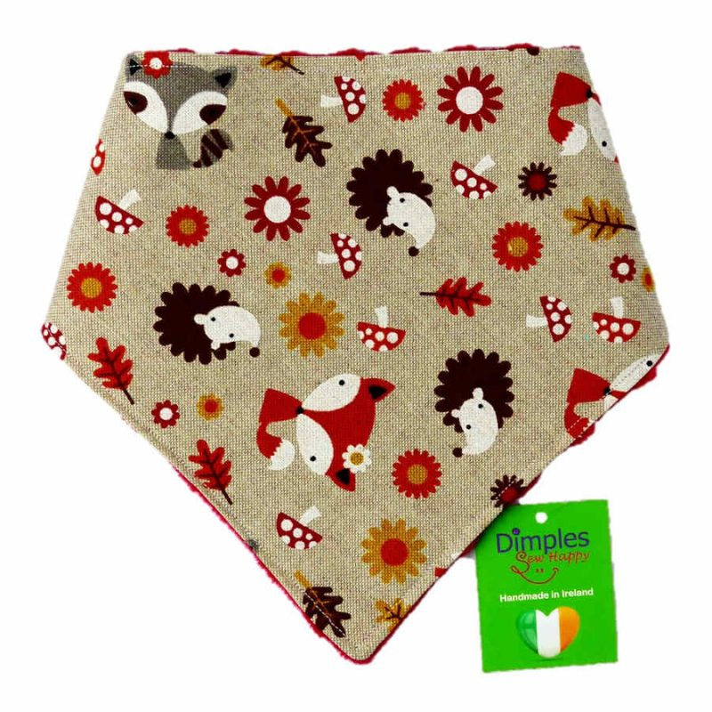 Woodland Animals Dog Bandana   Dimples Sew Happy