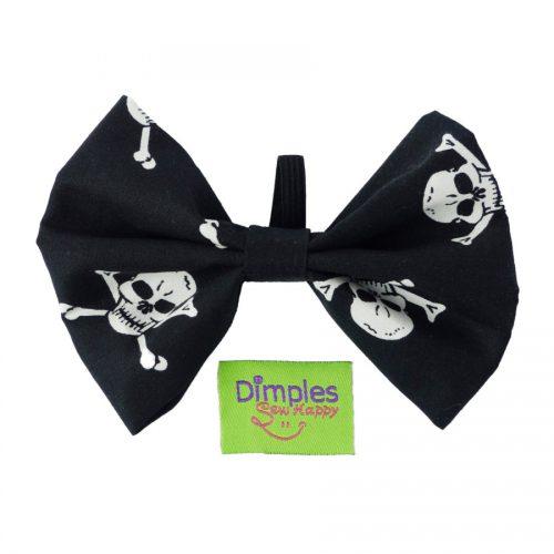Pirate Skulls Dog Bow Tie