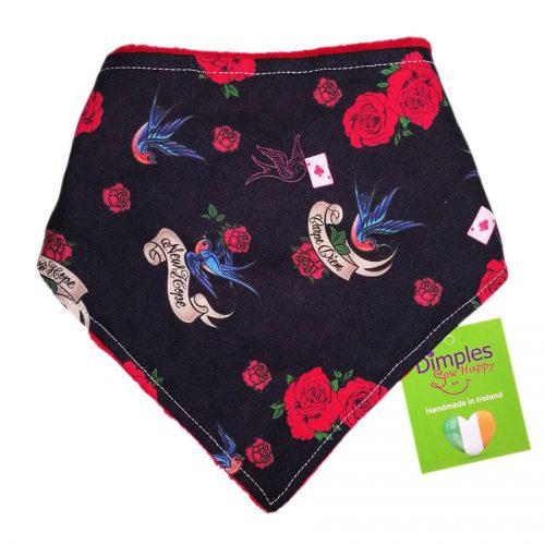 Swallows and Roses Dog Bandana