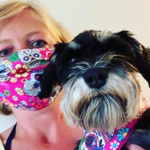 Pink Mexican Skulls Dog Bandana