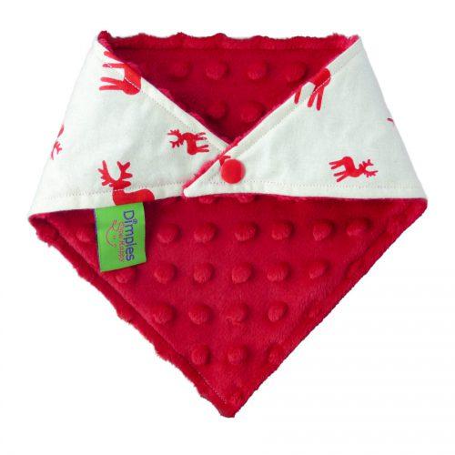 Nordic Red Reindeer - Christmas Dog Bandana