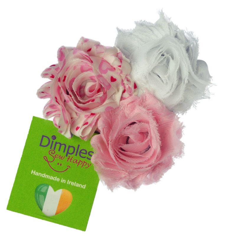 Pink Triple Flower Dog Collar