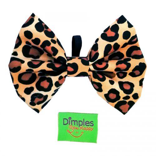 Leopard Dog Bow Tie