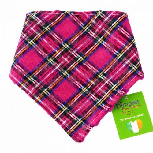 Pink Tartan Dog Bandana