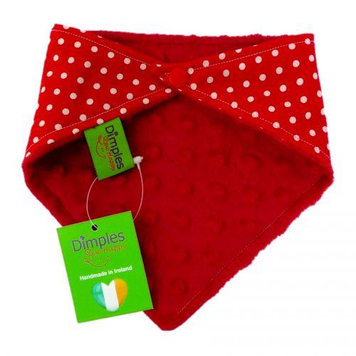 Red Polka Dot Dog Bandana